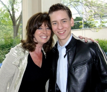 Vicki Michelle with Ciaran Brown
