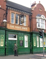 Ciaran Brown outside 'The White Horse' in Radford, Nottingham