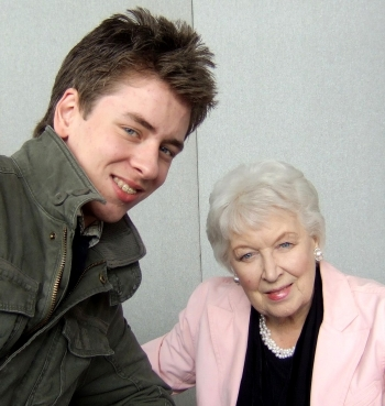 June Whitfield with Ciaran Brown