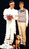 Julian Clary and Lee Simpson with Fanny  the Wonderdog in 'Terry & Julian'