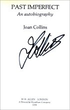 Signed title page of Joan Collins' autobiography 'Past Imperfect'
