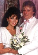 Joan Collins with 4th husband Peter Holm