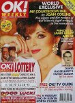 Joan Collins on the cover of 'OK!' magazine (March 1996)