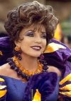 Joan Collins as Pearl Slaghoople in 'The Flintstones in Viva Rock Vegas'