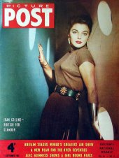 Joan Collins on the cover of 'Picture Post' (September 1954)
