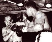 Henry Cooper badly cut above his eye during his 1966 fight against Muhammad Ali