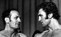 Henry Cooper and Joe Bugner before their fight in 1971