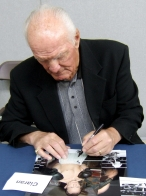 Sir Henry Cooper signing Ciaran's photo