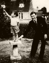 Robin Cousins aged 2, with his father Fred