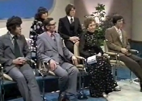Robin Cousins with his family on 'This is Your Life' in March 1980