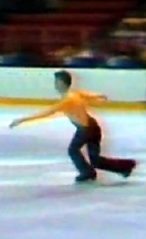 Robin Cousins skating his short programme in the 1980 Winter Olympics at Lake Placid
