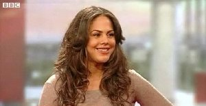 Lenora Crichlow being interviewed on BBC's 'Breakfast' programme in January 2010