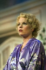 Sara Crowe as Sybil in 'Private Lives' at Eastbourne in 2008
