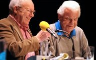 Graham Garden & Barry Cryer recording 'I'm Sorry I Haven't a Clue'