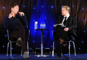 Benedict Cumberbatch interviewed by Sean Harry at the 'Starfury' event held at the Hilton Metropole in Birmingham