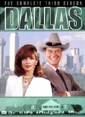 Linda Gray & Larry Hagman on the DVD cover of the third series of 'Dallas'