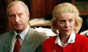 Charles Dance and Belinda Lang as Neil & Christine Hamilton in 'Justice in Wonderland'