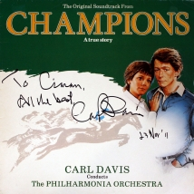 Soundtrack LP for 'Champions', signed by Carl Davis