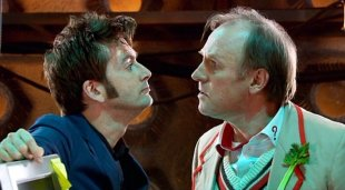David Tennant & Peter Davison in the Doctor Who special episode 'Time Crash'