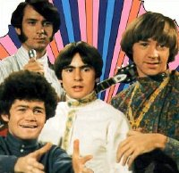 Micky Dolenz, Michael Nesmith, Davy Jones & Peter Tork as the Rock & Roll band 'The Monkees'