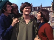 Michael Nesmith, Peter Tork, Micky Dolenz & Davy Jones in a scene from the TV series 'The Monkees'