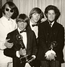 The Monkees in 1967 with their Emmy Award