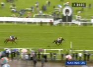 Dolly Penrose's first win, at York racecourse on 11th July 2008