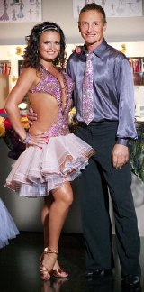 Richard Dunwoody with 'Strictly Come Dancing' partner Lilia Kopylova