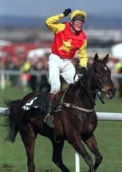 Richard Dunwoody on Miinnehoma after winning the 1994 Grand National at Aintree