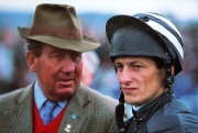 Richard Dunwoody with trainer David Nicholson