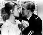 Shirley Eaton and Leslie Phillips in Carry On Constable