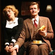 Charles Edwards & Jennifer Ferrin in 'The 39 Steps'