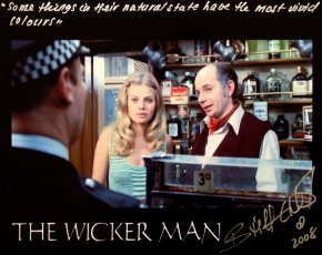 Britt Ekland signed photo with one of her lines from 'The Wicker Man'
