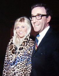 Britt Ekland has signed this photo of her with Peter Sellers