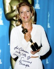 Emma Thompson with her Oscar for Best Actress in 'Howard's End'