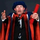 Lee Evans receives an Honorary Doctorate from the University of East London