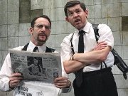 Jason Isaacs & Lee Evans in 'The Dumb Waiter'