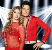 Corey Feldman with his professional skating partner Brooke Castile in 'Dancing on Ice' Series 7
