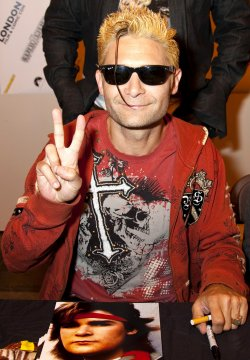 Corey Feldman at the London Film & Comic Con in July 2011