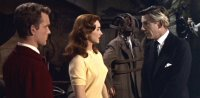 Shirley Anne Field, Graham Curnow & Michael Gough in 'Horrors of the Black Museum'