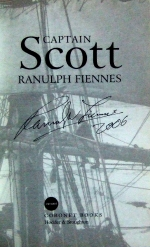 Signed title page of Sir Ranulph Fiennes' book 'Captain Scott'