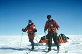 Sir Ranulph Fiennes and Dr Mike Stroud on one of their polar expeditions