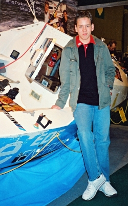 Ciaran Brown with Ben Fogle's boat 'The Spirit of EDF Energy' at the NEC in  2006