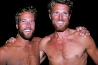 Ben Fogle & James Cracknell after their arrival in Antigua