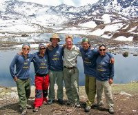 Ben Fogle with his 'Extreme Dreams' team in Nepal in 2007