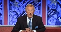 Bruce Forsyth chairs an edition of 'Have I Got News for You' in 2010
