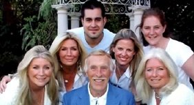 Bruce Forsyth with his son and five daughters