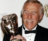 Bruce Forsyth with his BAFTA Fellowship Award in 2008