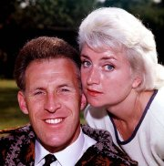 Bruce Forsyth with his first wife Penny Calvert