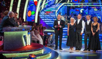 Bruce Forsyth presenting a 'Children in Need' special edition of 'Strictly Come Dancing' in 2013